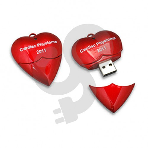 Heart Shaped USB Drive USB-0907