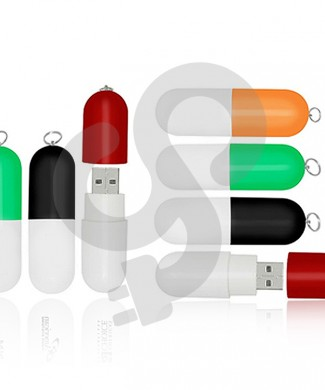 Pill Shaped USB Drive USB-0915
