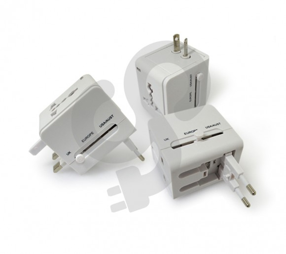 Travel Adaptor With USB Module TRA-0008