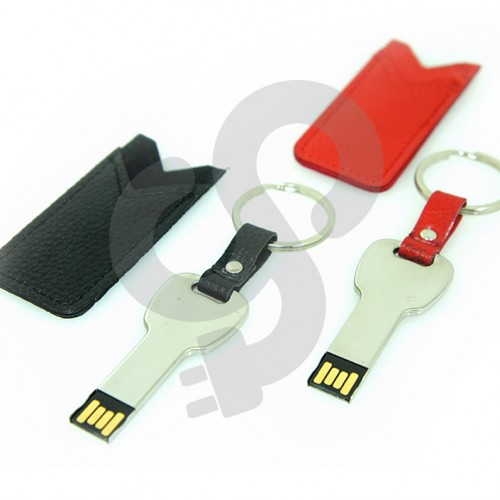 Metal Key Leather USB-0416